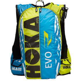 Hoka One One Evo R Backpack Men cyan / white / citrus